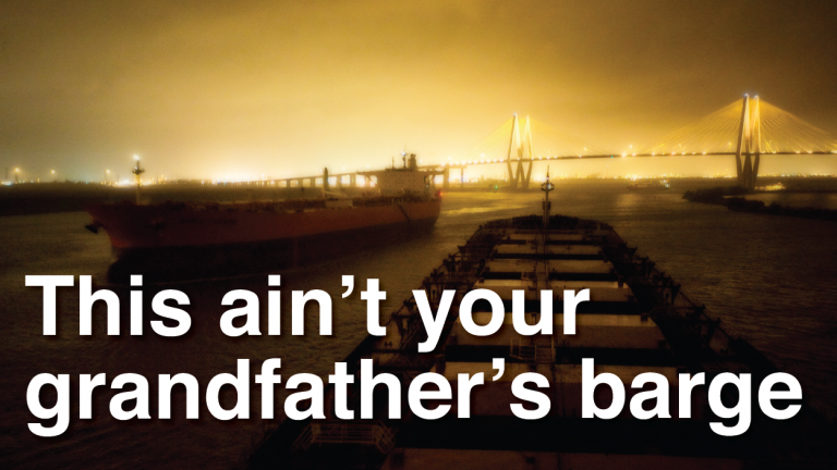 This ain't your grandfather's barge