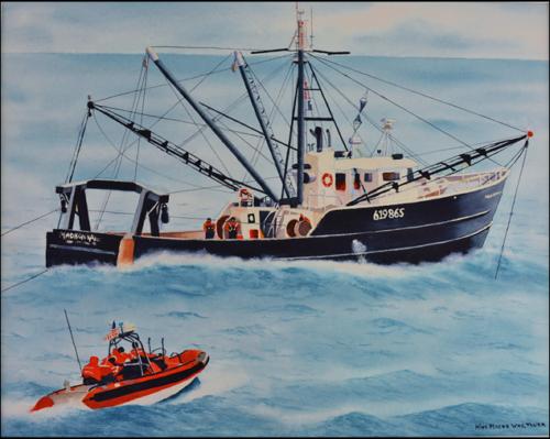 Coast Guard Boards A Fishing Vessel
